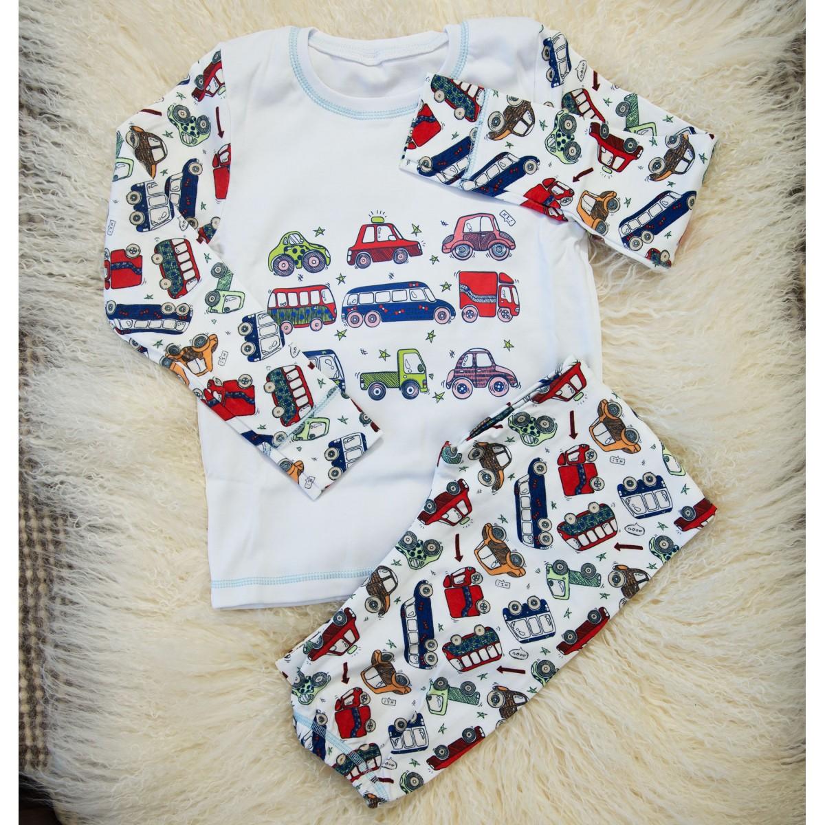 Детская пижама (кофта и штаны) из интерлока для мальчиков OBABY (395-110) 7e4d12ee84b4e