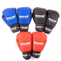 Перчатки боксерские для бокса из кожвинила Boxer 10 унций (bx-0036)