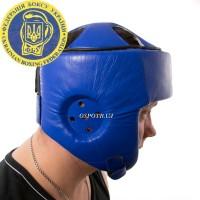 Профессиональный шлем защитный для каратэ Boxer L с печатью ФБУ, кожа