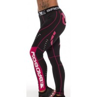 Компрессионные штаны женские Bad Boy Leggings Black/Pink