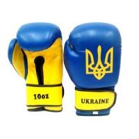 Перчатки боксерские Tryzub Ukraine Blue