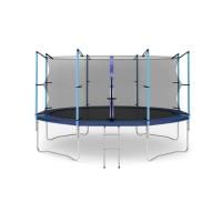 Батут с лестницей Hop-Sport 14FT (427 см) с внутренней сеткой