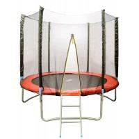 Батут с сеткой безопасности и лестницей HOUSEFIT 2.5 м (8FT)