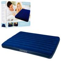 Матрас-кровать надувной пляжный для отдыха и дома 152х203см Intex (68759)