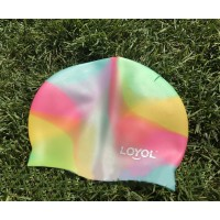 Силиконовая шапочка для плавания универсальная Loyol Радуга (CM303)