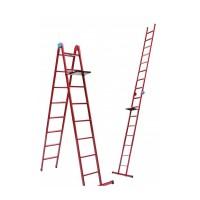 Лестница универсальная Mastertool 79-1018, 8 ступеней со столиком
