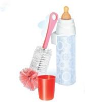 Бутылочка детская для кормления новорожденных младенцев НЯМА 250 мл + ершик для мытья Мирта (496)