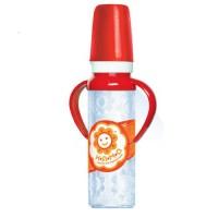 Бутылочка детская для кормления новорожденных с ручками с латексной соской НЯМА 250 мл Мирта (6662)