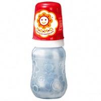 Бутылочка для кормления новорожденных с ручками и латексной анатомической соской НЯМА 125 мл Мирта (7755)