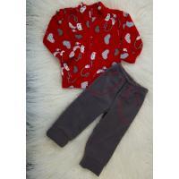 Детский костюм (штаны и кофта на молнии) из флиса для девочек (мальчиков) OBABY (358-501)