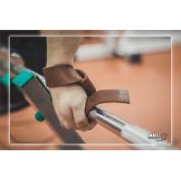 Лямки для турника, тяги и штанги (кистевые ремни) кожаные Onhillsport