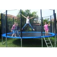 Большой батут для дома с защитной сеткой для взрослых и детей профессиональный OSPORT диаметр 305 см (MS 0497)