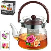 Чайник (заварник) для чая стеклянный 600мл Stenson (MS-0131)
