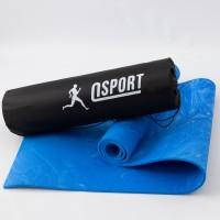 Коврик для йоги и фитнеса + чехол (мат, каремат спортивный) OSPORT Yoga ECO Pro 8мм (n-0013)