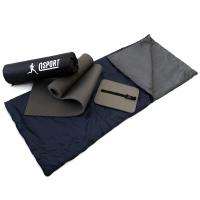 Коврик туристический + спальник + сидушка (каремат в палатку под спальный мешок) OSPORT Lite Лето (n-0012)