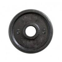 Металлический блин (диск чугунный) для гантели (штанги) под гриф 25мм OSPORT 3 кг (OF-0039)