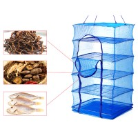 Сетка для сушки рыбы (сушилка для фруктов, овощей) пятиярусная 50х50х75 см Stenson (SF23638)