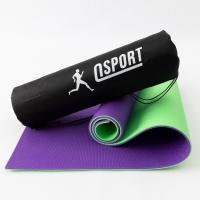 Коврик для йоги, фитнеса и спорта (каремат спортивный) OSPORT Спорт 8мм + чехол (n-0008)