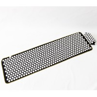 Массажный коврик Аппликатор Кузнецова + валик массажер для спины/шеи/ног/стоп OSPORT Lite ECO 145 (apl-028)