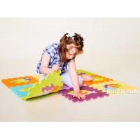 Детский игровой развивающий коврик-пазл (мозаика головоломка) М 0377 Profi 10шт