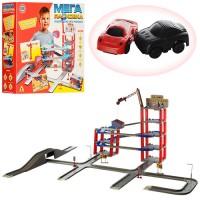 Гараж игрушечный на 6 уровней с четырмя машинами и лифтом Metr Plus (922)
