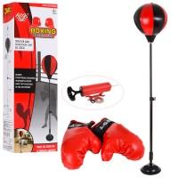 Детский боксерский набор на стойке (груша напольная с перчатками для детей) Profi (M 5664)