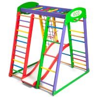 Детский спортивный комплекс 132х124х150см SportBaby (Акварелька Plus 1)