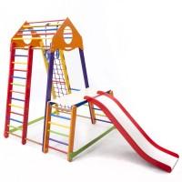 Детский спортивный комплекс 132х130х170см SportBaby (BambinoWood Color Plus 1-1)