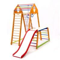 Детский спортивный комплекс 130х130х170см SportBaby (BambinoWood Plus 1-1)