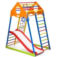 Детский спортивный комплекс 132х85х150см SportBaby (KindWood Color Plus 1)