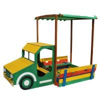 Детская песочница Грузовик 2,6х1,45м SportBaby (Песочница-16)