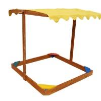 Детская песочница Sahara 1,45х1,45м с навесом SportBaby (Песочница-21)
