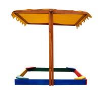 Детская песочница 1,45х1,45м с навесом SportBaby (Песочница-23)