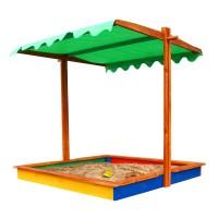 Детская песочница 1,45х1,45м с навесом SportBaby (Песочница-24)