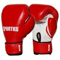 Боксерские перчатки из кожвинила Sportko 12 oz (ПД2_1)