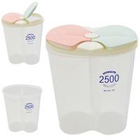 Емкость (контейнер) пищевой для сыпучих продуктов (круп) 2 отделения 2.5л Stenson (R30110)