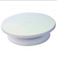Крутящаяся пластиковая подставка для торта (под блюда, товары) 28x6.5см Stenson (R86500)