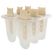 Формы для изготовления мороженого на 6 порций 12 см зверушки Stenson (R21133)