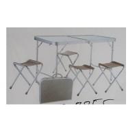 Стол-чемодан складной (раскладной) туристический (походный, для пикника) сдвоенный + 4 стула (R28855)