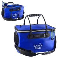 Сумка рыбацкая (чехол, ведро мягкое, ящик для рыбалки) для хранения рыбы и прикормки EVA 48 см (SF23839)