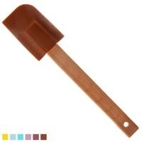 Лопатка кухонная силиконовая с бамбуковой ручкой Stenson (HH-089B)