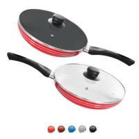 Сковорода (сковородка) антипригарная с крышкой металлическая 22см Stenson (MH-0623)