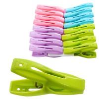 Прищепка бельевая для крепления белья пластиковая набор 16шт Stenson (N01535)
