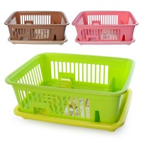 Сушилка (сушка) для мокрой посуды (тарелок) пластиковая 43х31х16см Stenson (R85513)