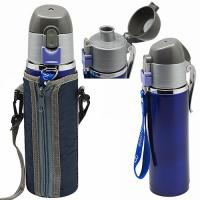Термос бутылка-поилка спортивная нержавейка в чехле 0.5л Stenson (YDB50)
