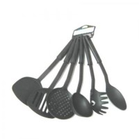 Набор кухонных приборов для приготовления пищи 6шт (лопатка, шумовка, половник и т.д.) Stenson (WHW44402)