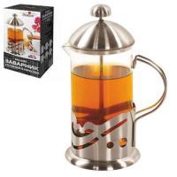 Заварник Френч-пресс (чайник, кофейник) для чая стеклянный 600мл Stenson (MS-0187)