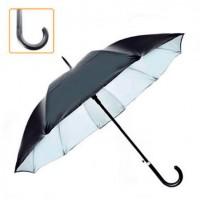 Зонт-трость мужской полуавтомат черный на 10 спиц 55см Stenson (D10537)