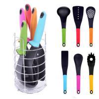 Набор кухонных принадлежностей с подставкой (лопатки, ложки) 7 предметов Stenson (H12044)