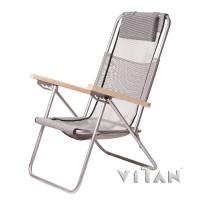 Кресло-шезлонг для отдыха и туризма 95х61х92см Vitan Ясень (VT7133)